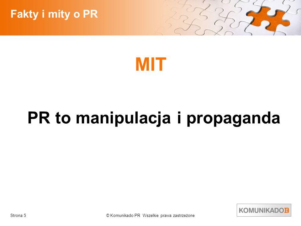 PR to manipulacja i propaganda