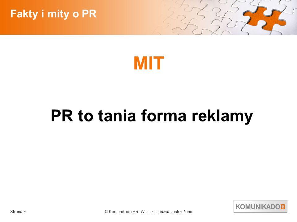 PR to tania forma reklamy