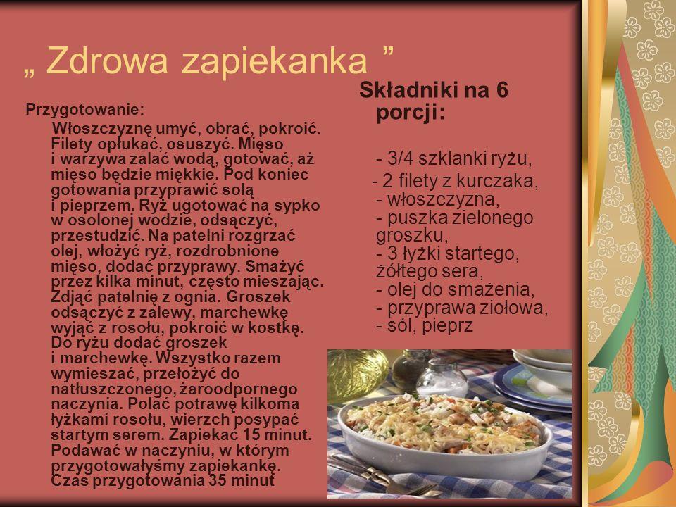 """"""" Zdrowa zapiekanka - 3/4 szklanki ryżu,"""