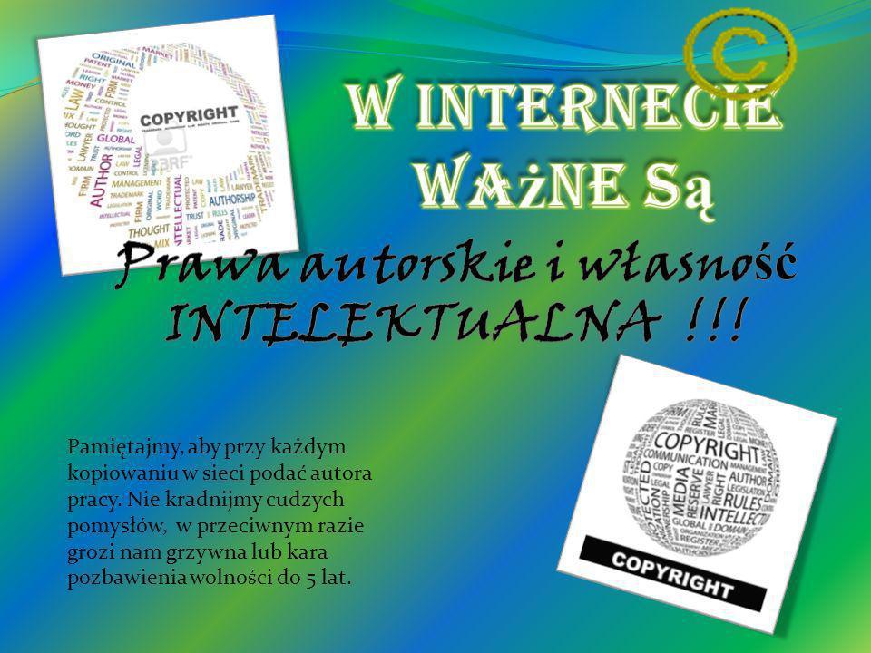 Prawa autorskie i własność INTELEKTUALNA !!!