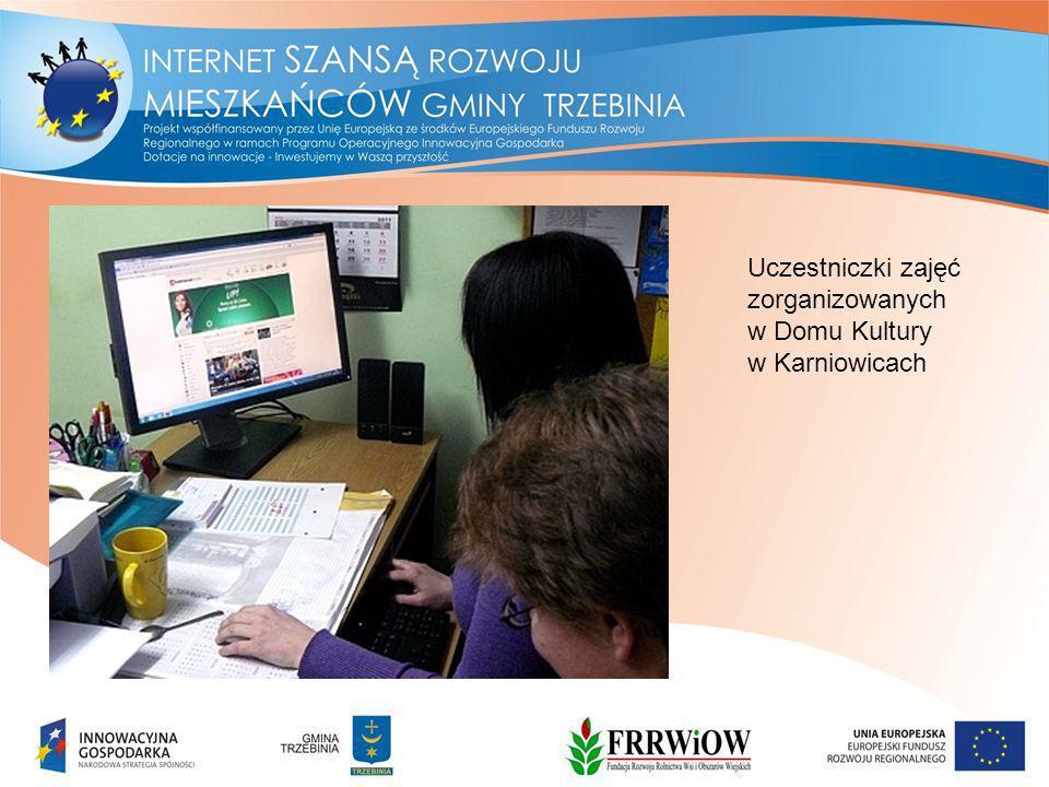 Uczestniczki zajęć zorganizowanych w Domu Kultury w Karniowicach