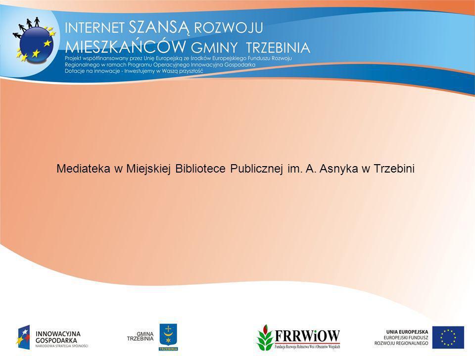 Mediateka w Miejskiej Bibliotece Publicznej im. A. Asnyka w Trzebini