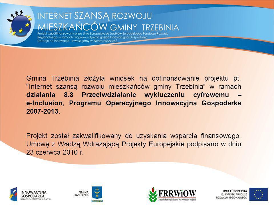 Gmina Trzebinia złożyła wniosek na dofinansowanie projektu pt