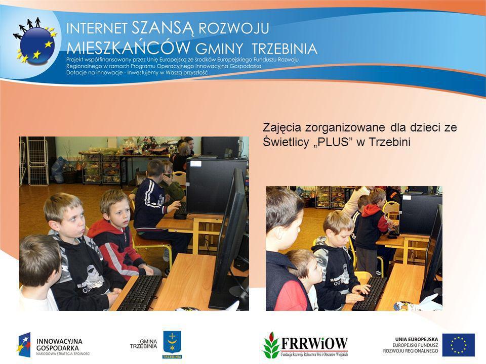 """Zajęcia zorganizowane dla dzieci ze Świetlicy """"PLUS w Trzebini"""