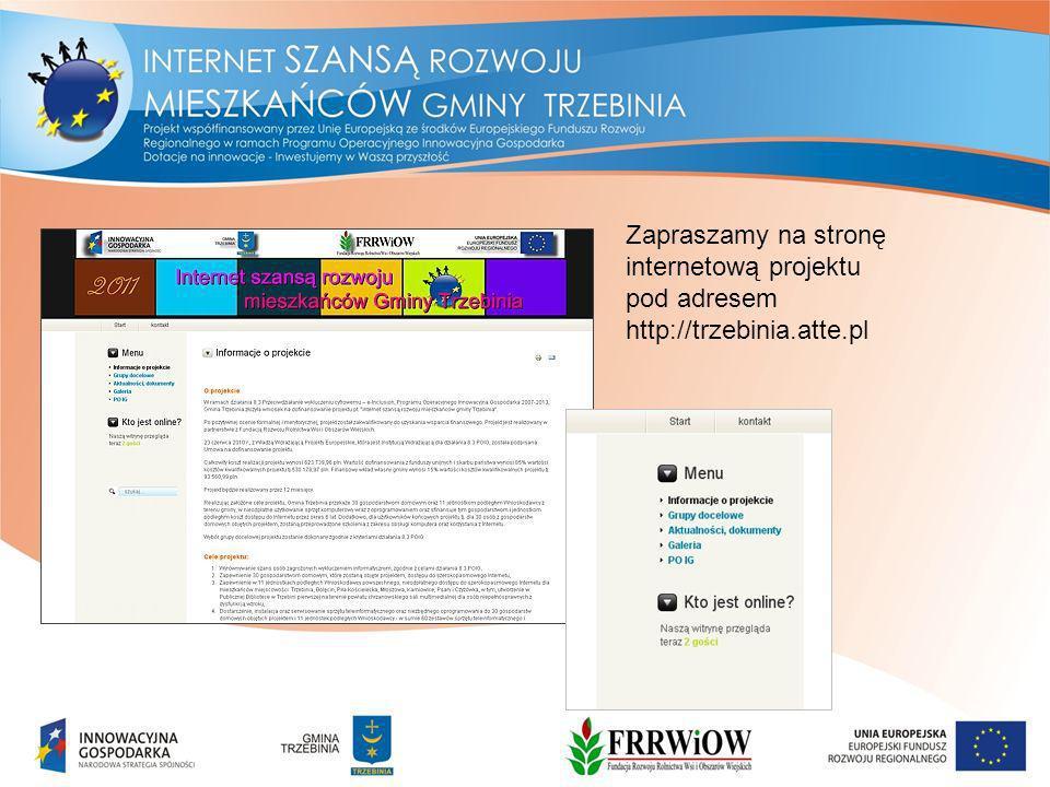 Zapraszamy na stronę internetową projektu