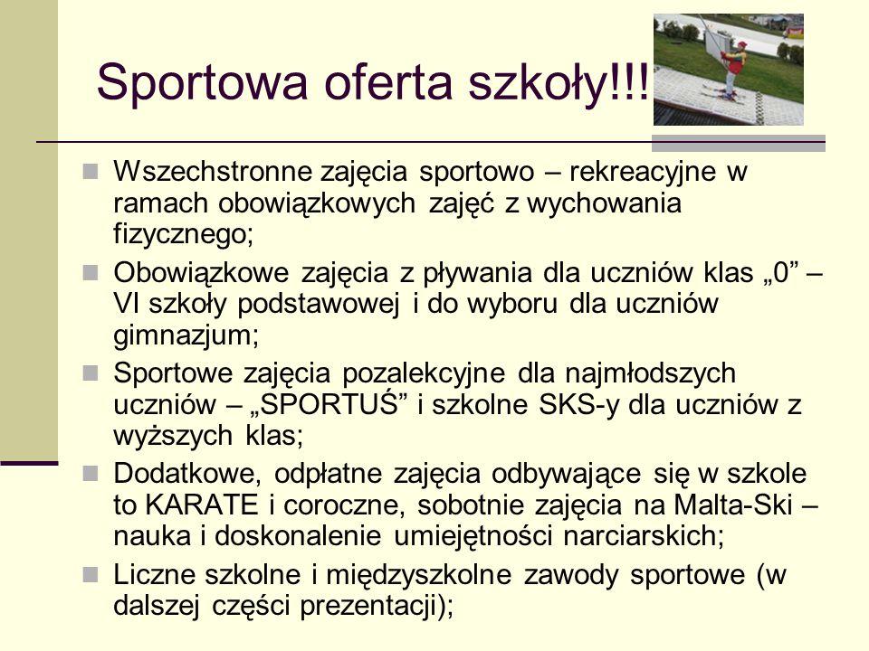 Sportowa oferta szkoły!!!