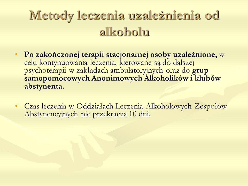 Metody leczenia uzależnienia od alkoholu