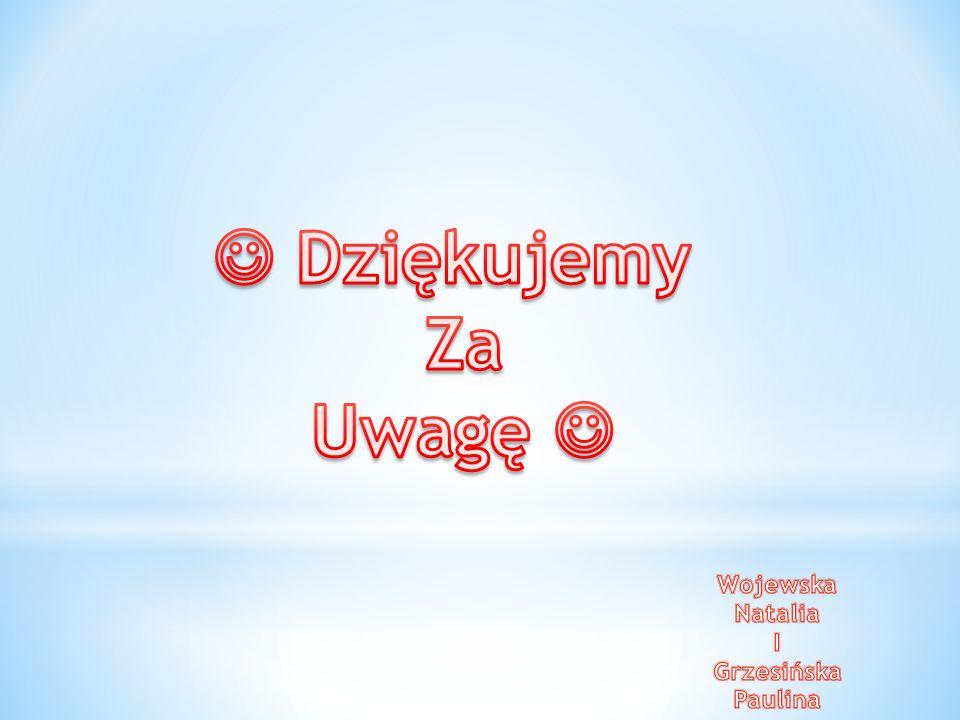  Dziękujemy Za Uwagę  Wojewska Natalia I Grzesińska Paulina