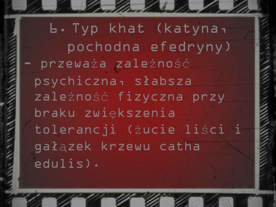 Typ khat (katyna, pochodna efedryny)