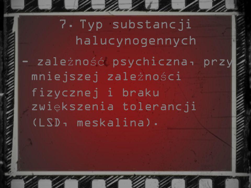Typ substancji halucynogennych