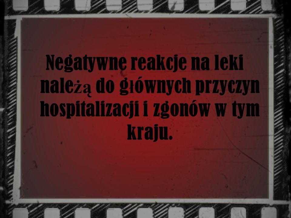 Negatywne reakcje na leki należą do głównych przyczyn hospitalizacji i zgonów w tym kraju.