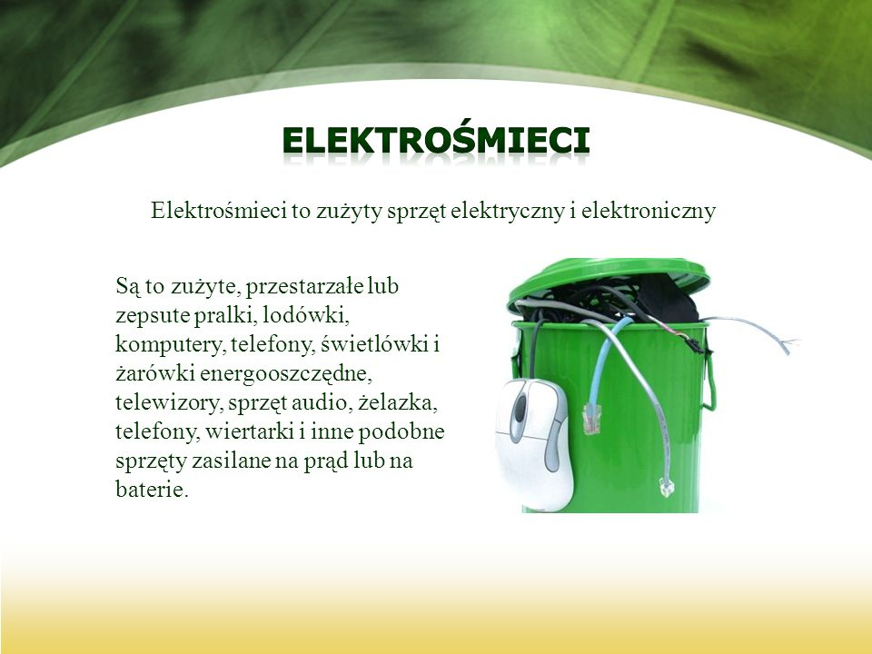 Elektrośmieci to zużyty sprzęt elektryczny i elektroniczny