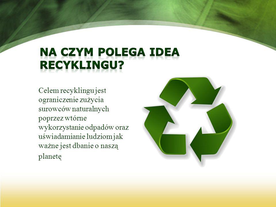Na czym polega idea recyklingu