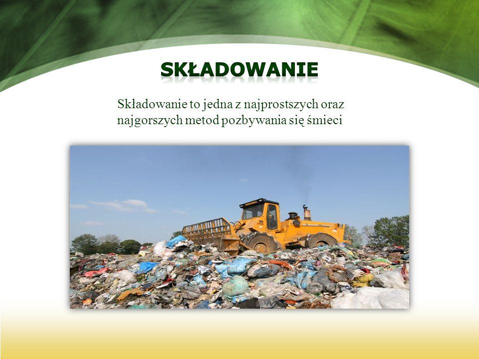 Składowanie Składowanie to jedna z najprostszych oraz najgorszych metod pozbywania się śmieci