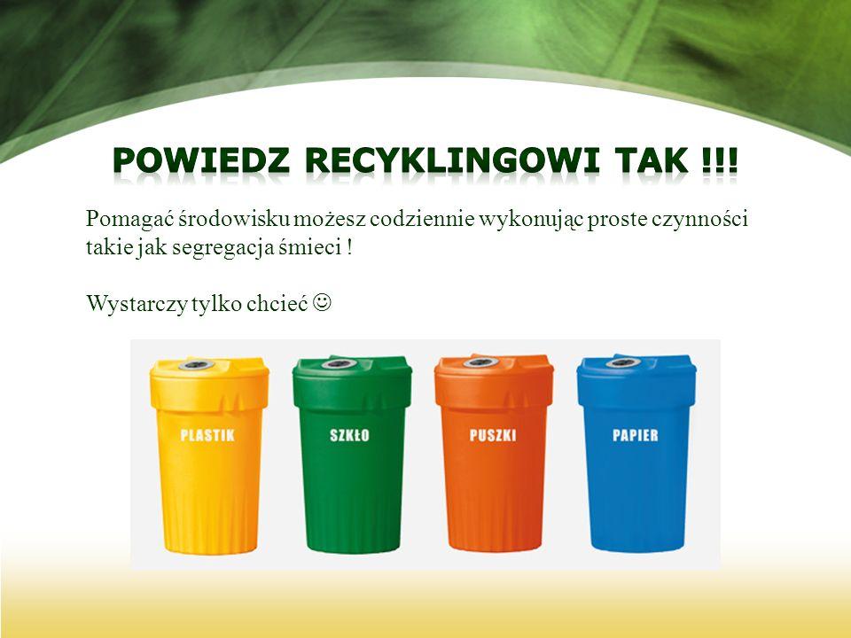 Powiedz recyklingowi tak !!!