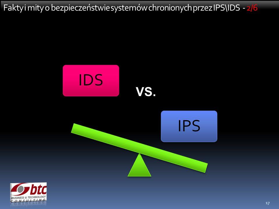 Fakty i mity o bezpieczeństwie systemów chronionych przez IPS\IDS - 2/6
