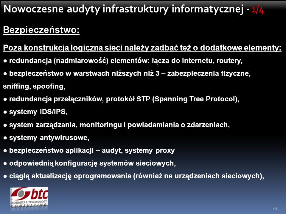 Nowoczesne audyty infrastruktury informatycznej - 1/4