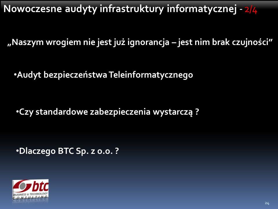 Nowoczesne audyty infrastruktury informatycznej - 2/4