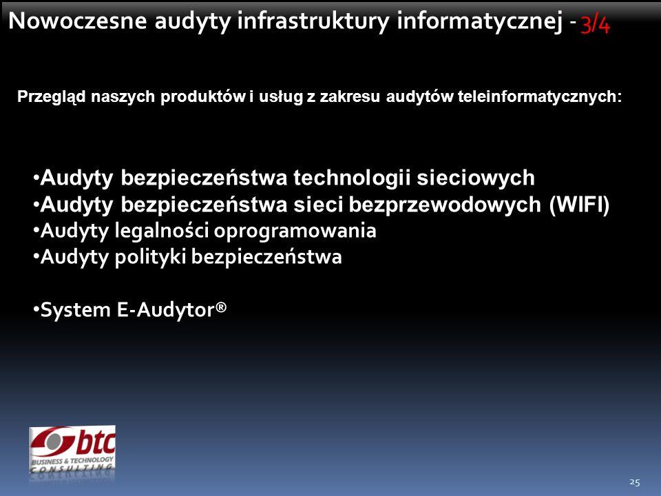 Nowoczesne audyty infrastruktury informatycznej - 3/4