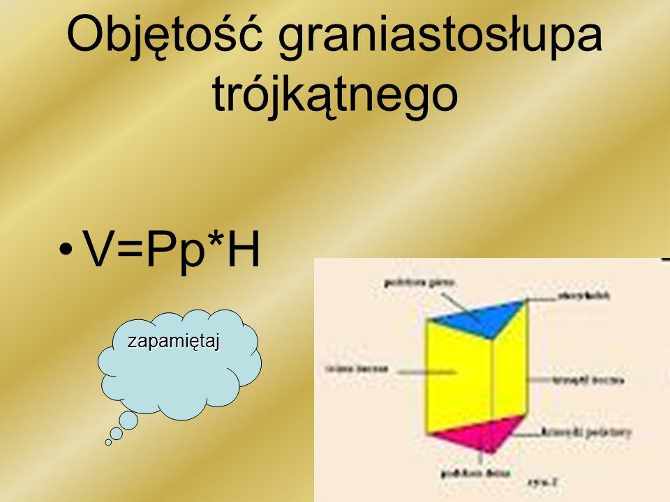 Objętość graniastosłupa trójkątnego