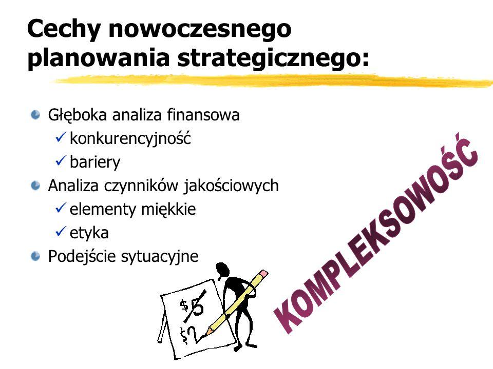 Cechy nowoczesnego planowania strategicznego: