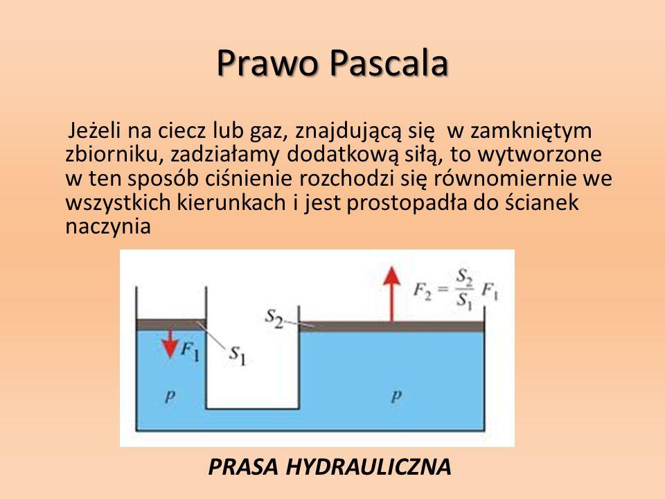 Prawo Pascala PRASA HYDRAULICZNA