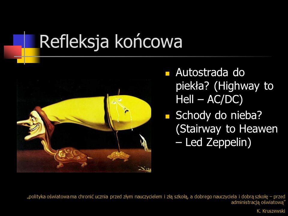 Refleksja końcowa Autostrada do piekła (Highway to Hell – AC/DC)