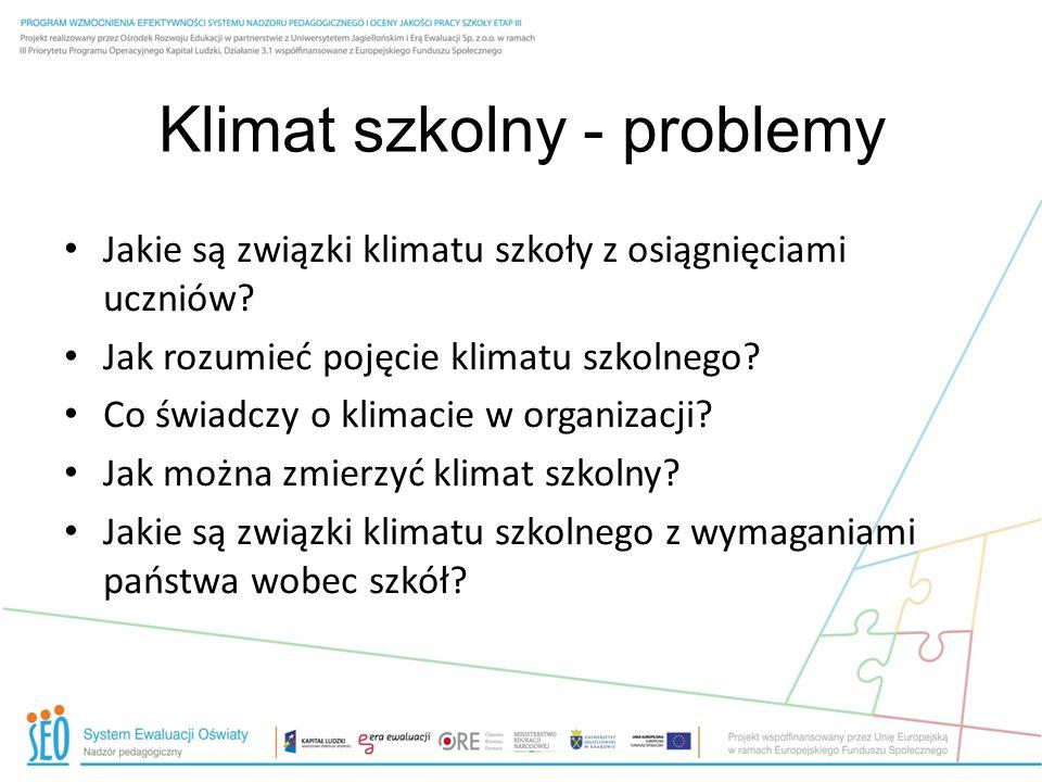Klimat szkolny - problemy