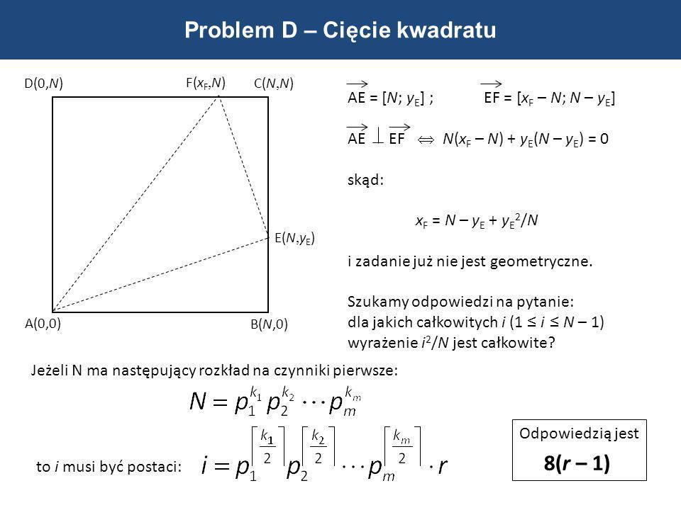 Problem D – Cięcie kwadratu