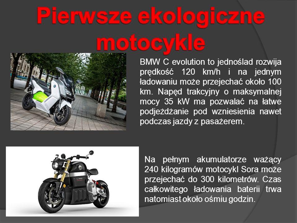 Pierwsze ekologiczne motocykle