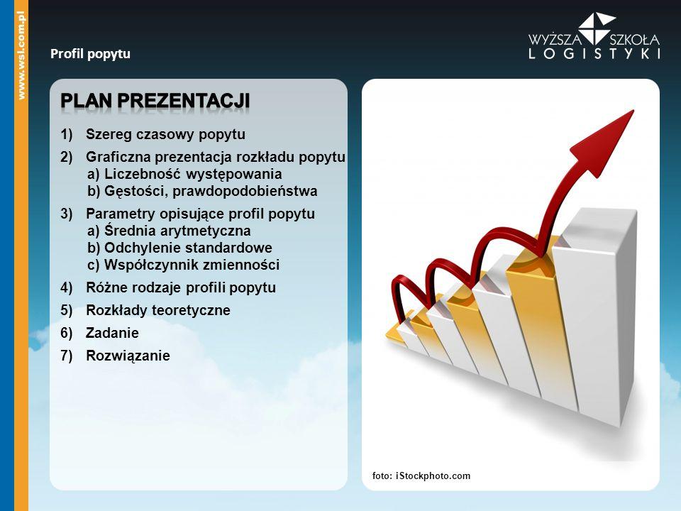 Plan prezentacji Profil popytu Szereg czasowy popytu