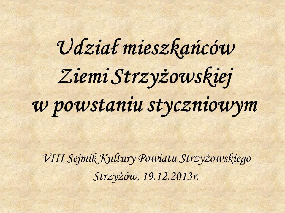 Udział mieszkańców Ziemi Strzyżowskiej w powstaniu styczniowym