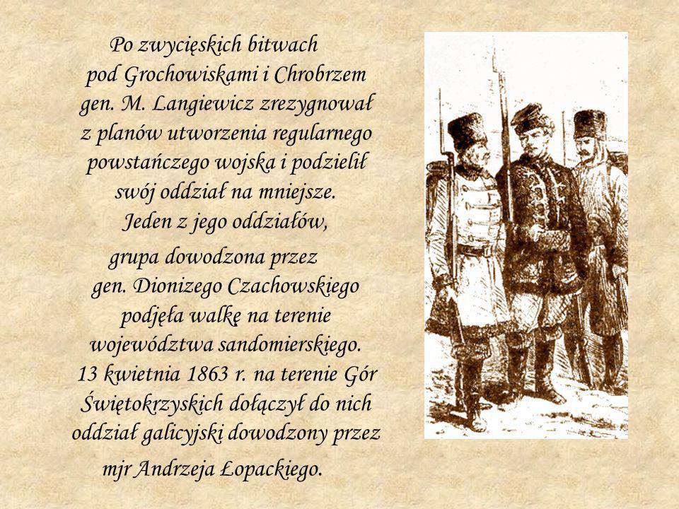 Po zwycięskich bitwach pod Grochowiskami i Chrobrzem gen. M