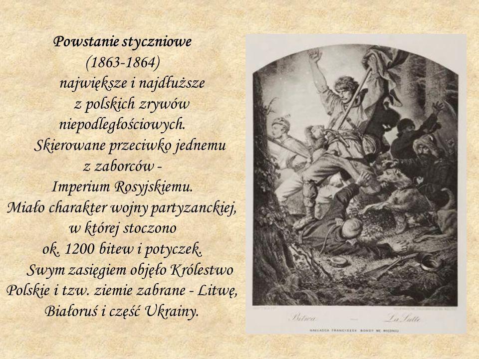 największe i najdłuższe z polskich zrywów niepodległościowych.