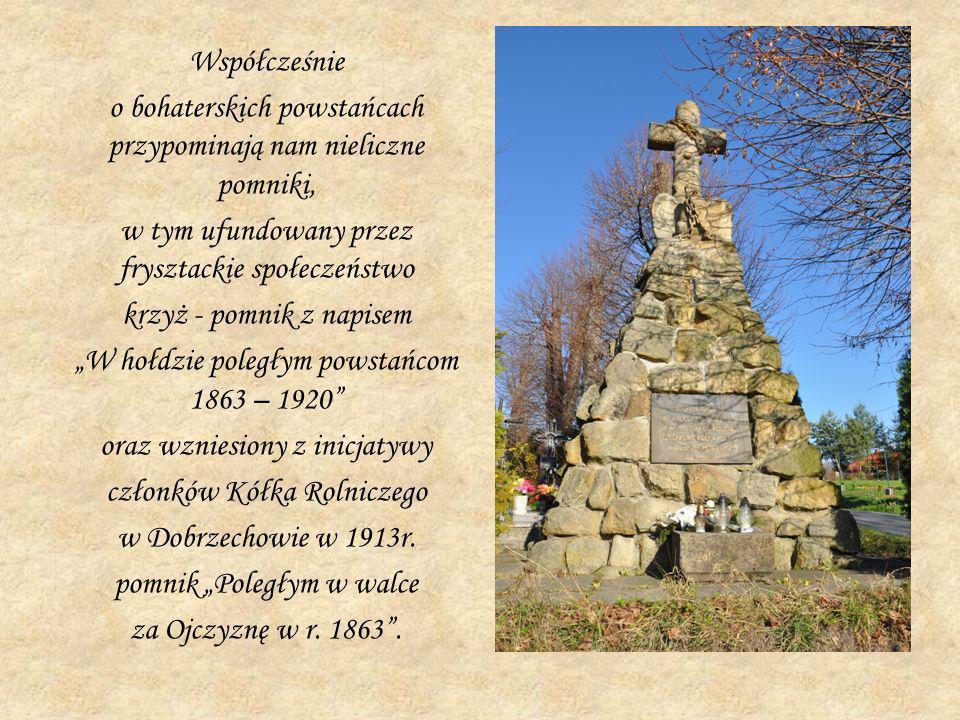 o bohaterskich powstańcach przypominają nam nieliczne pomniki,