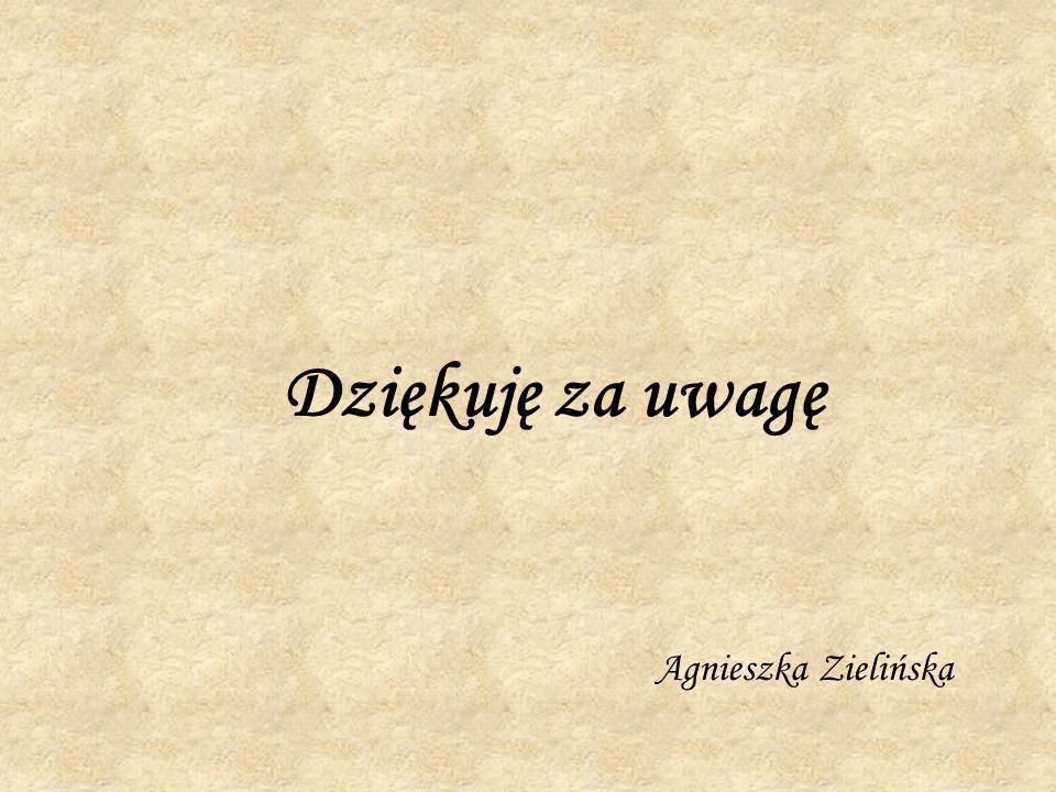Dziękuję za uwagę Agnieszka Zielińska