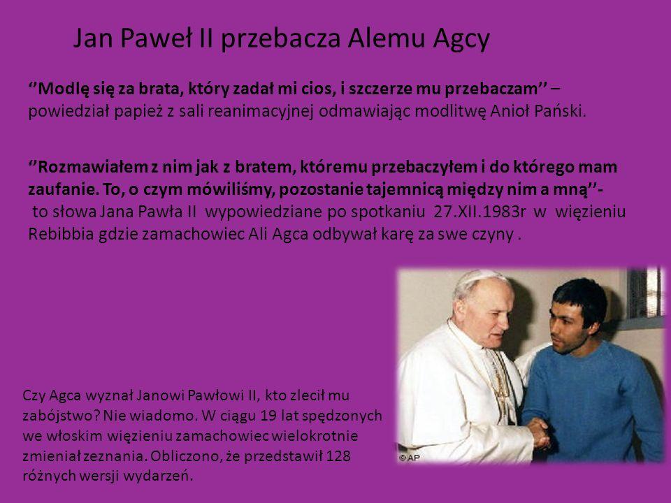 Jan Paweł II przebacza Alemu Agcy