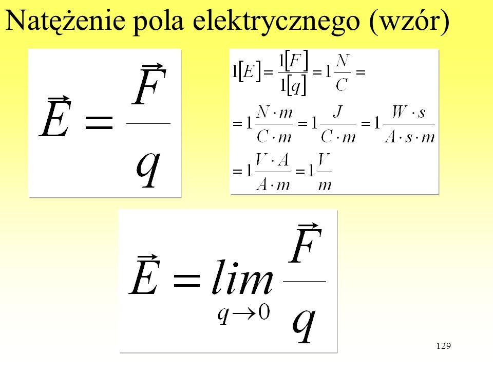Natężenie pola elektrycznego (wzór)