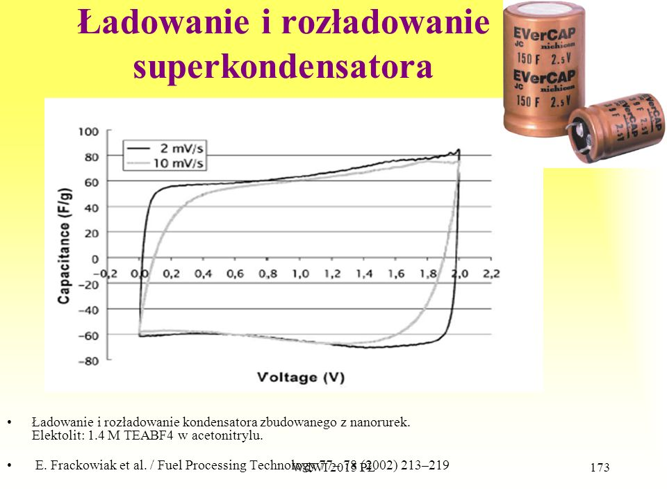 Ładowanie i rozładowanie superkondensatora