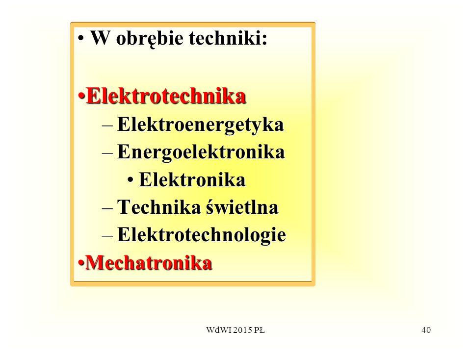 Elektrotechnika W obrębie techniki: Elektroenergetyka