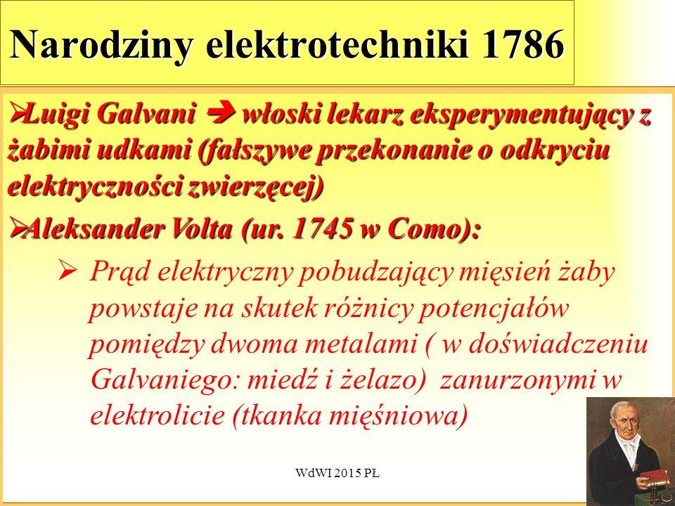 Narodziny elektrotechniki 1786