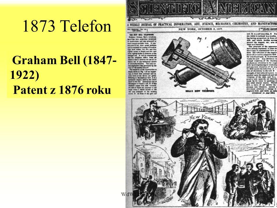 1873 Telefon Graham Bell (1847-1922) Patent z 1876 roku WdWI 2015 PŁ