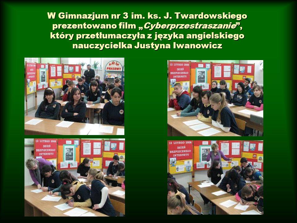 W Gimnazjum nr 3 im. ks. J.
