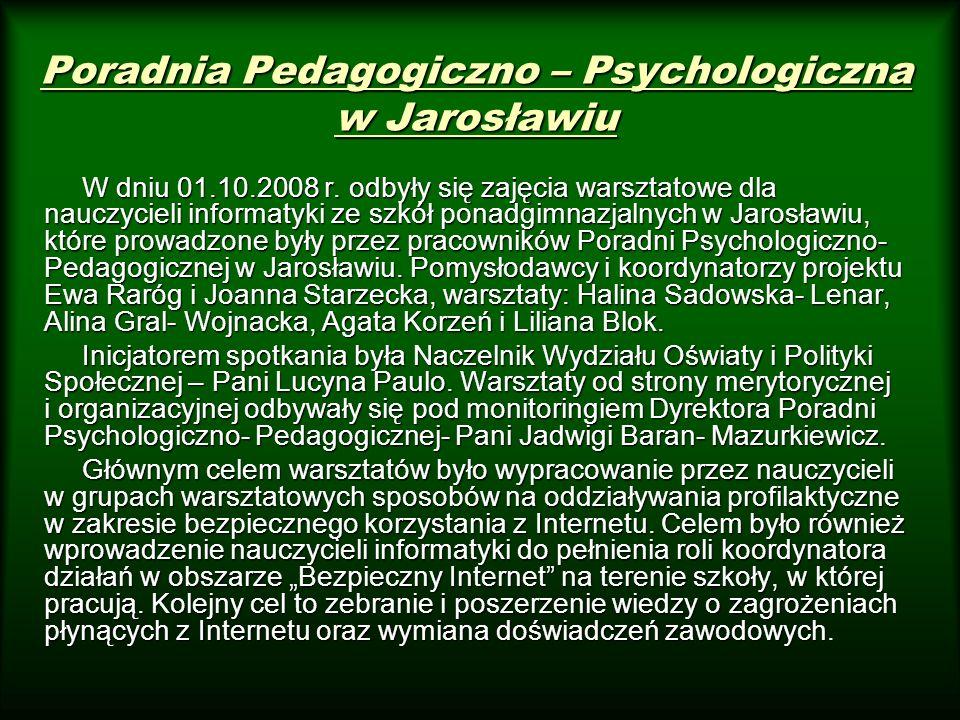 Poradnia Pedagogiczno – Psychologiczna w Jarosławiu