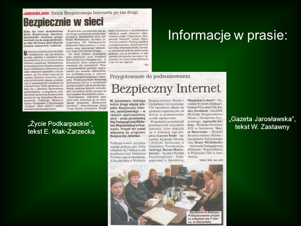 """""""Gazeta Jarosławska , tekst W. Zastawny"""