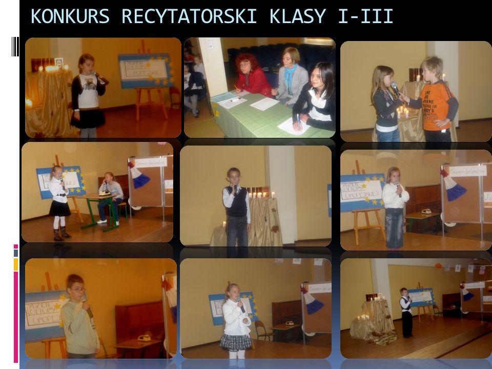 KONKURS RECYTATORSKI KLASY I-III
