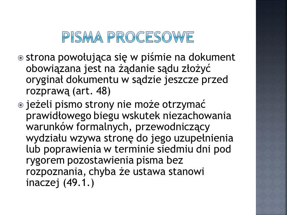 Pisma procesowe