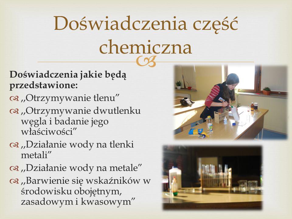 Doświadczenia część chemiczna