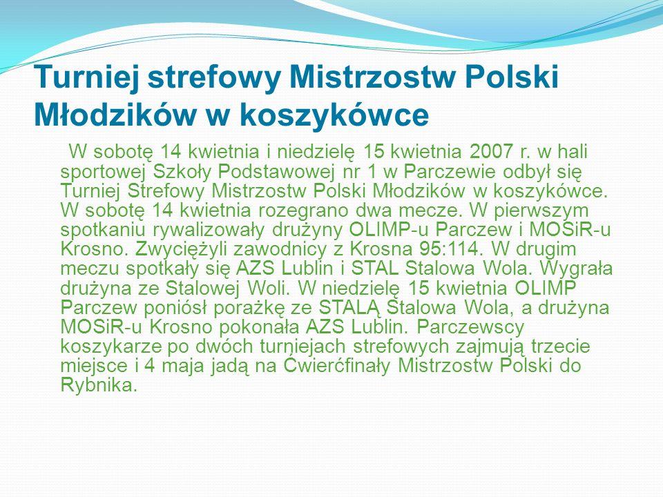 Turniej strefowy Mistrzostw Polski Młodzików w koszykówce