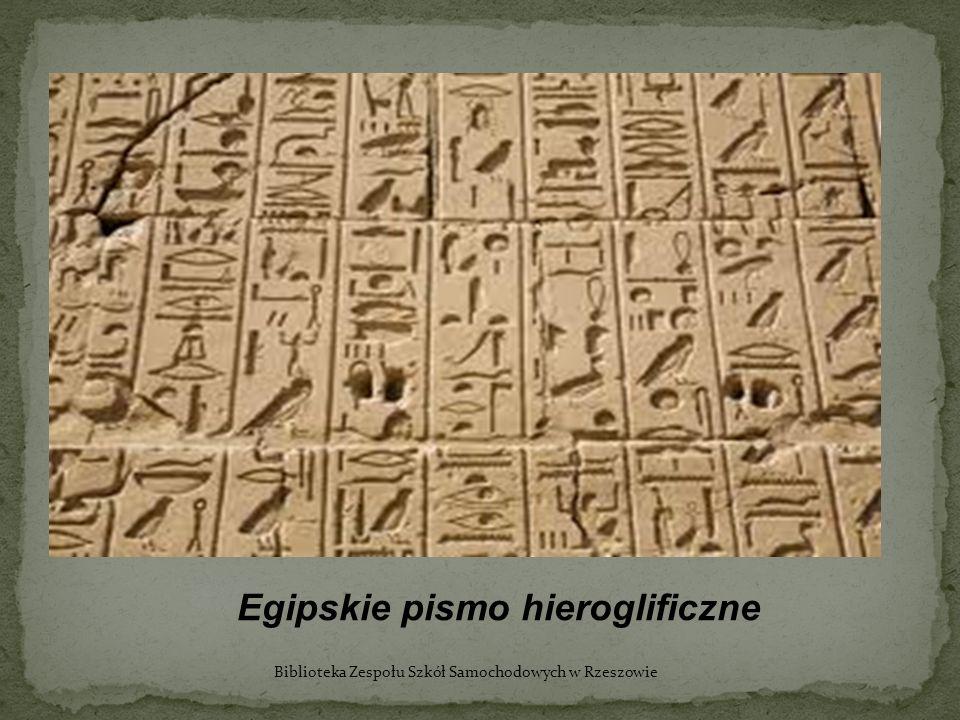 Egipskie pismo hieroglificzne